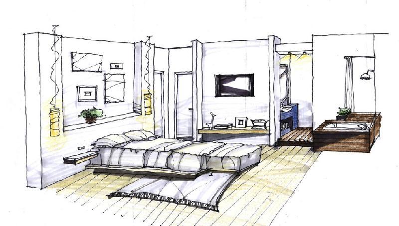 室内手绘图-室外手绘图-马克笔手绘图-彩铅手绘图