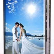 供应16寸水晶琉璃相册结婚纪念日礼物影楼婚纱相册设计制作