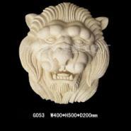 供应砂岩工艺挂件 树脂工艺品 鹿头挂件 狮头吐水件