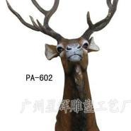 供应树脂工艺品鹿头挂件 砂岩狮头喷水 吐水工艺品 青龙挂件