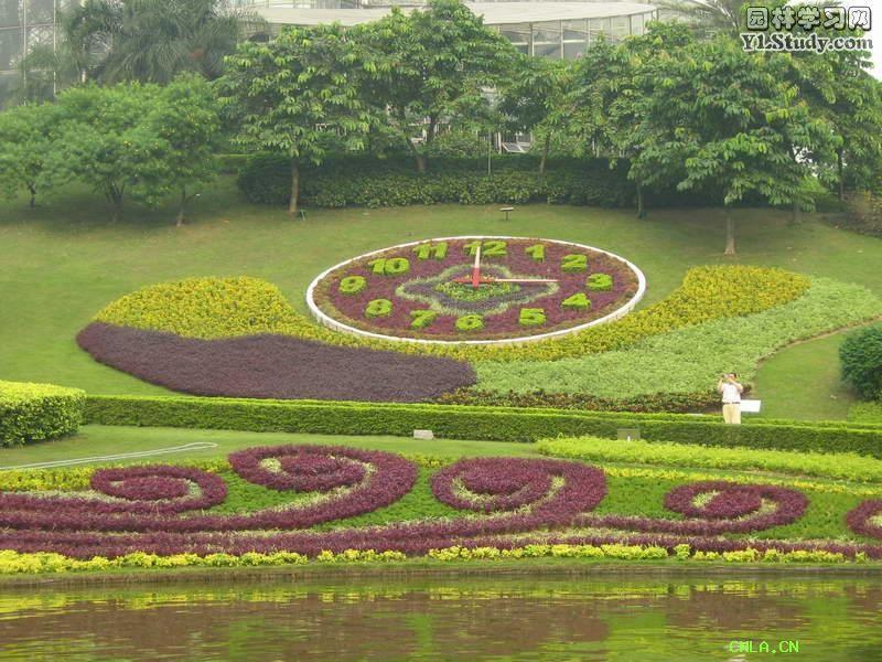 五色草立体花坛设计动态研究图片
