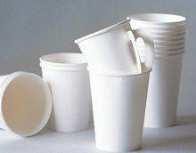 供应PE淋漠纸/甘蔗浆杯片/碗片图片