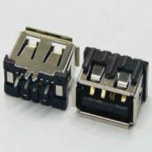 USB接口 AF短体180度直插立式单边鱼叉脚黑色LCP