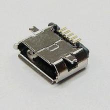 micro usb贴板 5p母座SMT鱼叉脚全贴 镀镍普通1.0