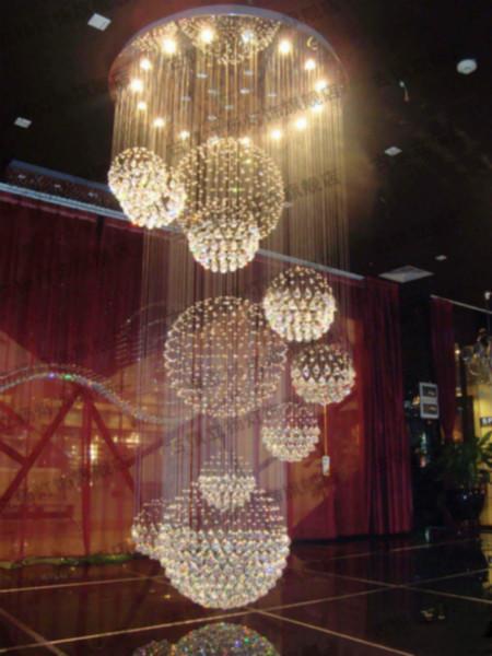 led复式灯大厅灯客厅灯圆形吊灯图片大全