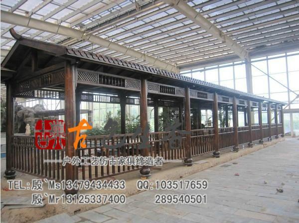 供应高温碳化实木防腐木长廊