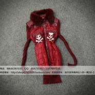 新款韩版兔毛站直袖子加厚女棉服图片