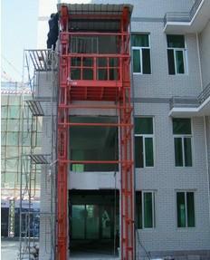 供应导轨式升降台货梯