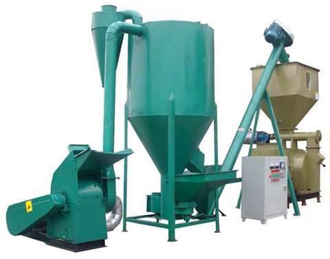 供应时产一吨颗粒饲料机组,鸡鸭颗粒饲料加工机组