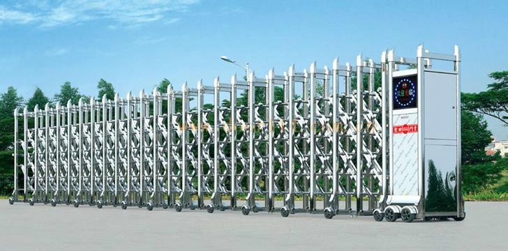 供应黄山伸缩门,黄山伸缩门价格,黄山伸缩门安装