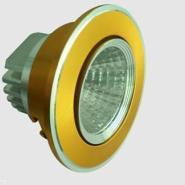 供应LED天花灯12W黄光扫金色