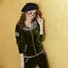 韩国新款韩版卫衣三件套女时尚运动休闲套装加绒加厚女装厂家批发批发