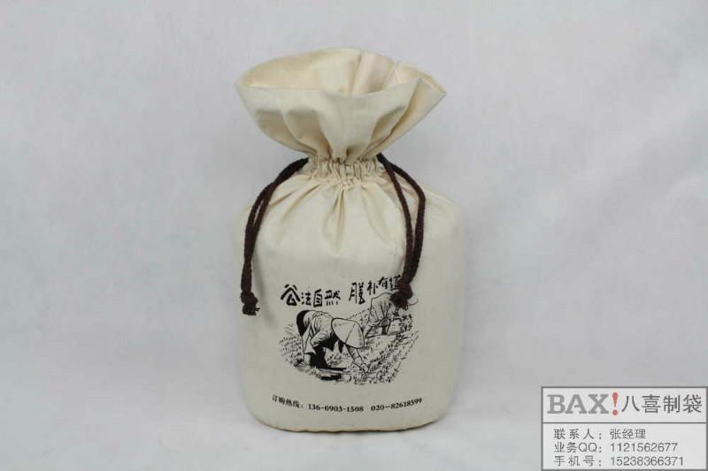 供应东北棉布大米袋定做束口袋定制棉布袋定制厂家