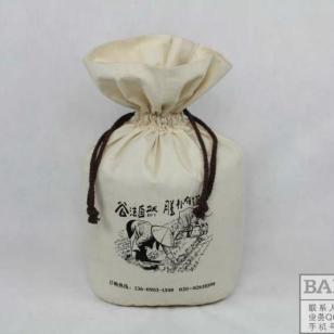 东北棉布大米袋定做束口袋定制图片