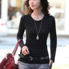 便宜韩版女装批发网时尚女装加绒打底衫批发