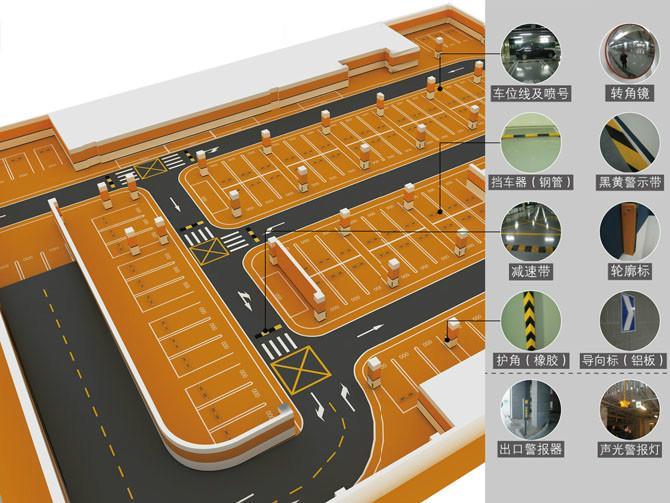 停车场交通安全设施