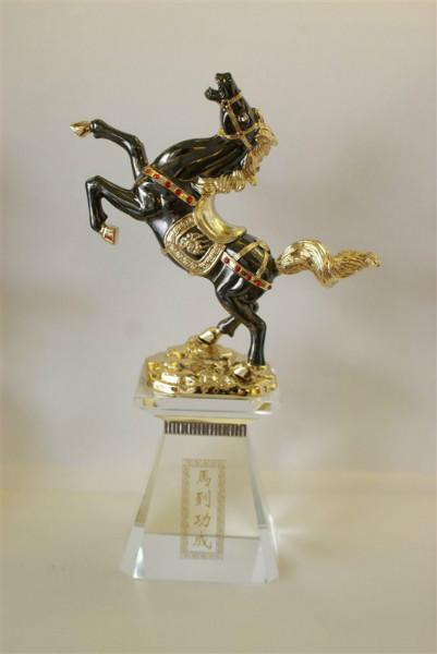 水晶授权牌加盟牌定做厂家琉璃马销售