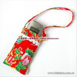 时尚印花棉布手机袋包装袋图片