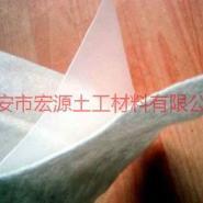 山东水库人工湖防渗复合土工膜图片
