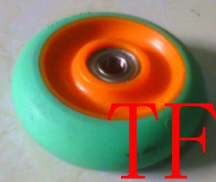 供应中型彩色环保静音超级软人造胶TPR单轮,专业生产TPR脚轮厂家