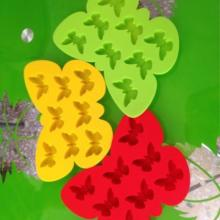 供应蝴蝶硅胶冰格食品级硅胶制冰模蝴蝶硅胶冰格模批发