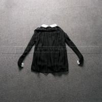 2013秋装新款韩版简约撞色T恤修身长袖短款女针织