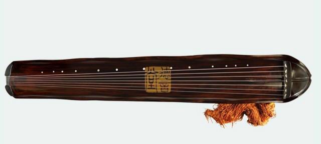 高级杉木蕉叶式古琴图片