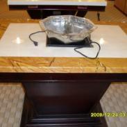 酒店家具餐桌火锅桌电动桌椅大理石图片