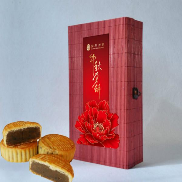 竹丝盒月饼礼品包装销售