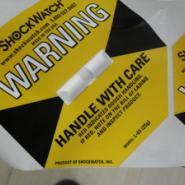 全国包邮防震防倾斜标签SHOCKWATCH图片