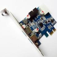 供应USB3.0扩展卡转接卡pci-e2+2口