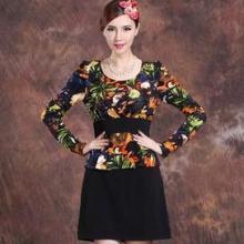 供应显瘦时尚风格印花连衣裙