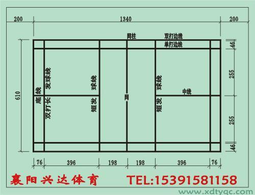 羽毛球场供货商 襄阳羽毛球场平面图,襄阳羽毛球场标准尺寸,襄阳