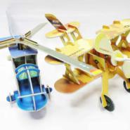 二合一飞机模型拼图图片