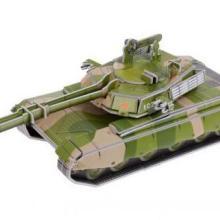 供应绿色坦克 军事模型3d立体拼图 浙江厂家直销