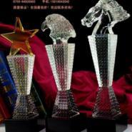 武术比赛水晶奖杯奖牌定制图片