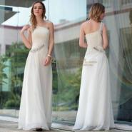 白色欧美大码高档结婚礼服晚礼服图片
