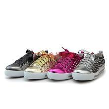 普拉达新款牛皮铆钉休闲鞋 Prada平跟厚底系带单鞋QB1301