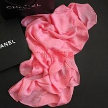 香奈儿真丝丝巾暗字母手工卷边丝巾小香围巾披肩CHANEL02-X