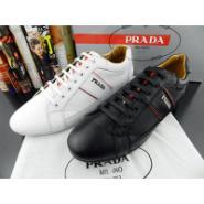 普拉达时尚系带男鞋图片