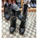 供应Chanel时尚个性链条女靴