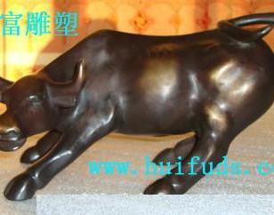 玻璃钢动物雕塑公牛艺术雕塑摆件图片