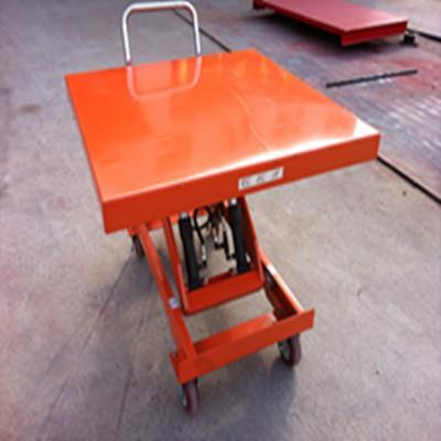 液压升降供应商:供应河南驻马店脚踏式液压升降小车图片