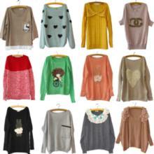 供应2013秋冬装新款日韩套头毛衣女装 日韩欧美范 外贸品牌毛衣 品