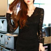 供应包臀连衣裙 韩国性感蕾丝裹身 修身包臀连衣裙