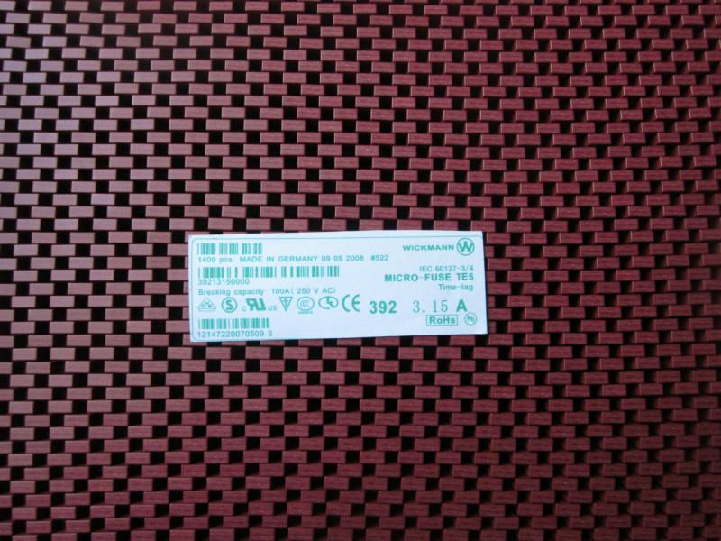 供应微型392方型T2A编带保险丝