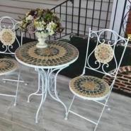 厂家直销铁艺桌椅三件套阳台桌椅户图片