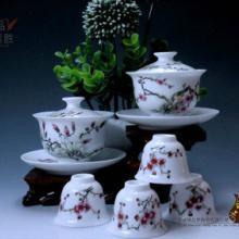 供应厂家直销水点桃花茶具