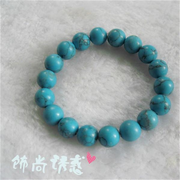 蓝色松石手链、饰品批发、手链