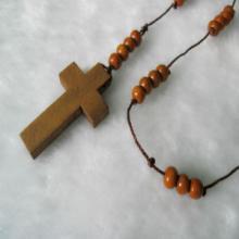 木制十字架项链、木珠珠饰、十字架、广州辅料批发批发
